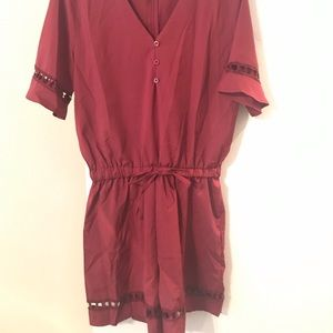 Dresses - Romper. Brand new. Maroon. Never worn.